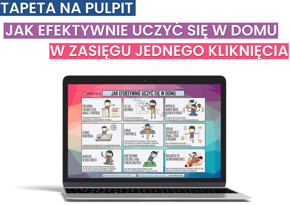 Jak efektywnie uczyć się w domu - Tapeta